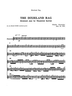 Charles Fernandez: The Dixieland Rag (Parts) Books | Wind Quintet