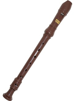 Pure Tone: Kids Descant Recorder (Brown) Instruments | Soprano (Descant) Recorder