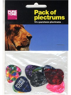 Pure Tone: Pack Of Plectrums (10 Assorted)  | Guitar