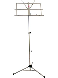 Pure Tone: Music Stand With Case (Nickel Colour)  |