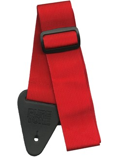 Pure Tone: Nylon Guitar Strap - Red  | Guitar
