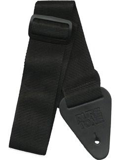 Pure Tone: Nylon Guitar Strap - Black  | Guitar