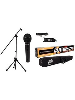 Peavey: Microphone Pack - I100 Microphone, XLR-XLR Jack Cable, Stand, Clip, Bag  | Voice