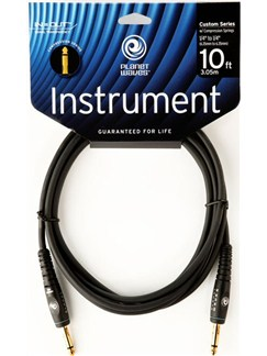 Planet Waves: 10' Custom Series Instrument Cable With Compression Springs  | Electric Guitar, Electro-Acoustic Bass Guitar, Electro-Acoustic Guitar, Electro-Classical Guitar, Semi-Acoustic Guitar