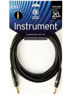 Planet Waves: 20' Custom Series Instrument Cable With Compression Springs  | Electric Guitar, Electro-Acoustic Bass Guitar, Electro-Acoustic Guitar, Electro-Classical Guitar, Semi-Acoustic Guitar