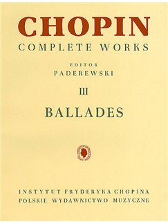 Frederic Chopin: Complete Works Volume III - Ballades (Urtext Edition) Books | Piano