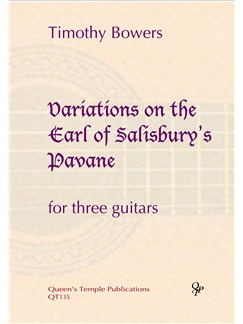 Timothy Bowers: Variations On The Earl Of Salisbury's Pavane Books | Classical Guitar (Trio)
