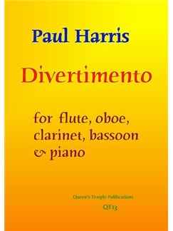 Paul Harris: Divertimento Books | Flute, Oboe, Clarinet, Bassoon, Piano Accompaniment