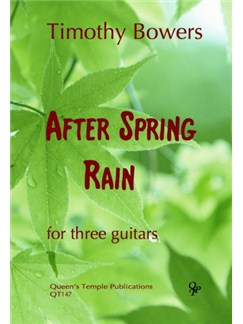 Timothy Bowers: After Spring Rain Books | Guitar (Trio)