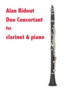 Alan Ridout: Due Concertant Books | Clarinet, Piano Accompaniment