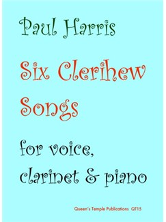 Six Clerihew Songs Books | Clarinet, Voice