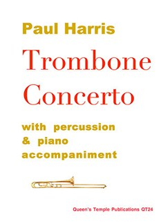 Paul Harris: Trombone Concerto (piano reduction with percussion) Books | Piano, Piano Accompaniment