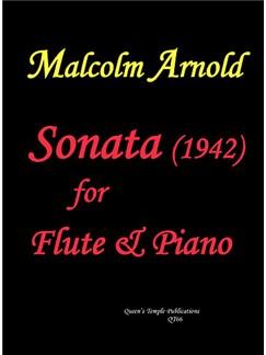 Sir Malcolm Arnold: Sonata (1942) (Flute & Piano) Books | Flute, Piano Accompaniment