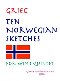 Edvard Grieg: Ten Norwegian Sketches (Wind Quintet) Books | Quintet