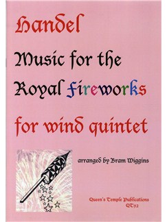 Handel: Music For The Royal Fireworks (Wind Quintet) Books | Wind Quintet