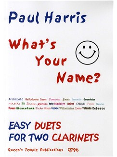 Paul Harris: What's Your Name? (Clarinet Duet) Books | Clarinet