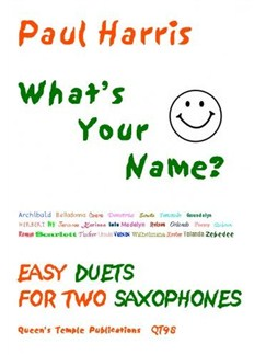 Paul Harris: What's Your Name? (Saxophone Duet) Books | Saxophone