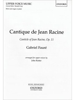 Gabriel Faure: Cantique De Jean Racine Op.11 Books | SSAA, Organ Accompaniment