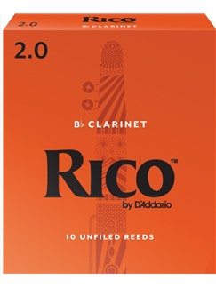 Rico: Bb Clarinet Reeds - Strength 2.0 (Box Of 10)  | Clarinet