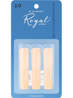 Rico Royal: Clarinet Reeds - Strength 2 (Pack of 3)  | Klarinet