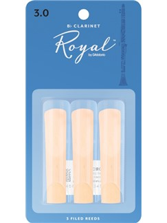 Rico Royal: Clarinet Reeds - Strength 3 (Pack Of 3)  | Clarinet