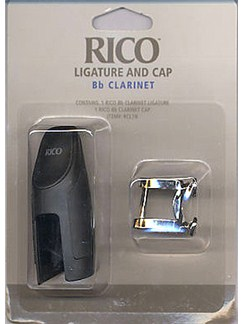 Rico: B Flat Clarinet Ligature With Mouthpiece Cap  | Clarinet