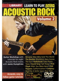 Lick Library: Learn To Play Easy Acoustic Rock Volume 2 DVDs / Videos | Guitar