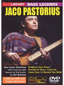 Lick Library: Learn To Play Jaco Pastorius DVDs / Videos | Bass Guitar