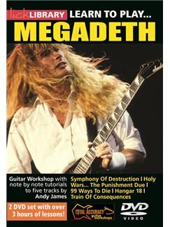 Lick Library: Learn To Play Megadeth (2 DVDs) DVDs / Videos | Guitar