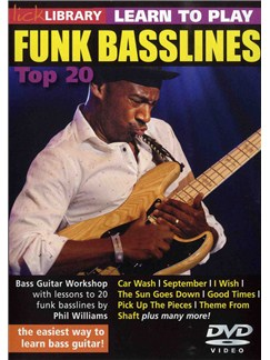 Lick Library: Learn To Play Funk Basslines - Top 20 DVDs / Videos | Bass Guitar