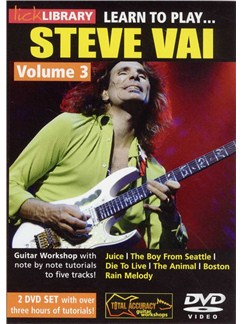 Lick Library: Learn To Play Steve Vai - Volume 3 (2 DVD) DVDs / Videos | Guitar