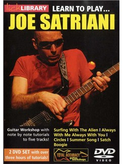 Lick Library: Learn To Play Joe Satriani (2 DVD) DVDs / Videos | Guitar