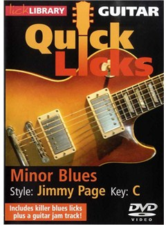 Lick Library: Quick Licks For Guitar - Jimmy Page - Minor Blues Key Of C (DVD) DVDs / Videos | Guitar
