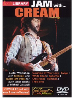 Lick Library: Jam With Cream (2 DVDs and CD) CDs and DVDs / Videos | Guitar