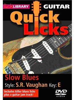 Lick Library: Quick Licks For Guitar - S.R. Vaughan Slow Blues Key Of E (DVD) DVDs / Videos | Guitar