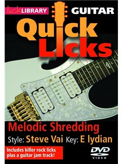 Lick Library: Quick Licks For Guitar - Steve Vai Melodic Shredding DVDs / Videos | Electric Guitar