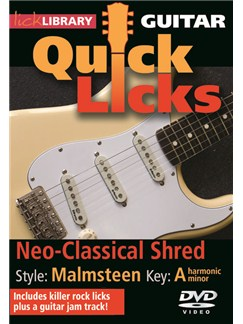 Lick Library: Quick Licks For Guitar - Malmsteen Neo-Classical Shred DVDs / Videos | Electric Guitar
