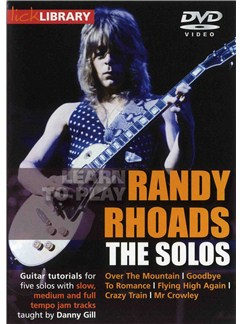 Lick Library: Learn To Play Randy Rhoads - The Solos CDs and DVDs / Videos | Guitar