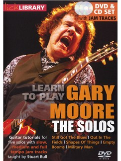 Lick Library: Learn To Play Gary Moore - The Solos CDs and DVDs / Videos | Electric Guitar