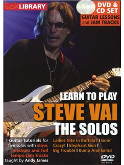Lick Library: Learn To Play Steve Vai - The Solos CDs and DVDs / Videos | Guitar
