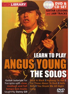 Lick Library: Learn To Play Angus Young - The Solos CDs and DVDs / Videos | Piano, Vocal & Guitar