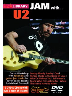 Lick Library: Jam With U2 CDs and DVDs / Videos | Electric Guitar