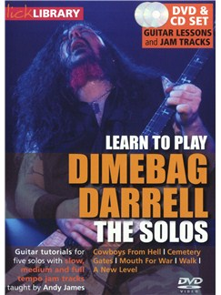 Lick Library: Learn To Play Dimebag Darrell - The Solos CDs and DVDs / Videos | Guitar