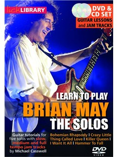 Lick Library: Learn To Play Brian May - The Solos CDs and DVDs / Videos | Electric Guitar