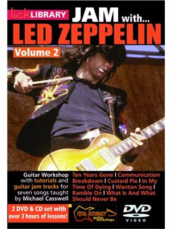 Lick Library: Jam With Led Zeppelin - Volume 2 CDs and DVDs / Videos | Electric Guitar