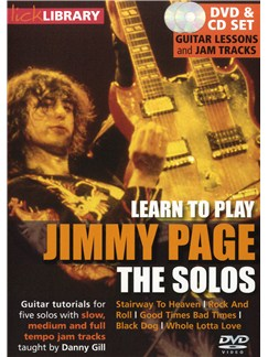 Lick Library: Learn To Play Jimmy Page: The Solos CDs and DVDs / Videos | Guitar
