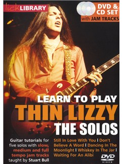 Lick Library: Learn To Play Thin Lizzy - The Solos CDs and DVDs / Videos | Guitar