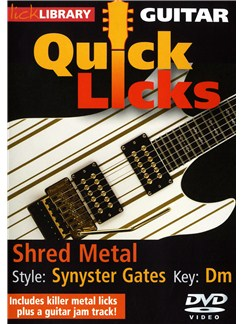 Lick Library: Guitar Quick Licks - Synyster Gates Shred Metal DVDs / Videos | Guitar
