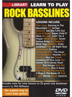 Lick Library: Learn To Play Rock Basslines DVDs / Videos | Bass Guitar