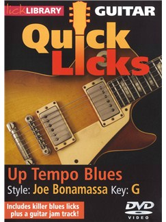 Lick Library: Guitar Quick Licks - Joe Bonamassa Up Tempo Blues DVDs / Videos | Guitar